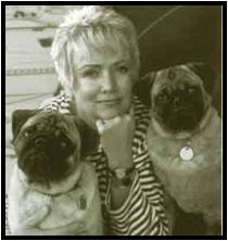Audrey w/ Pugs